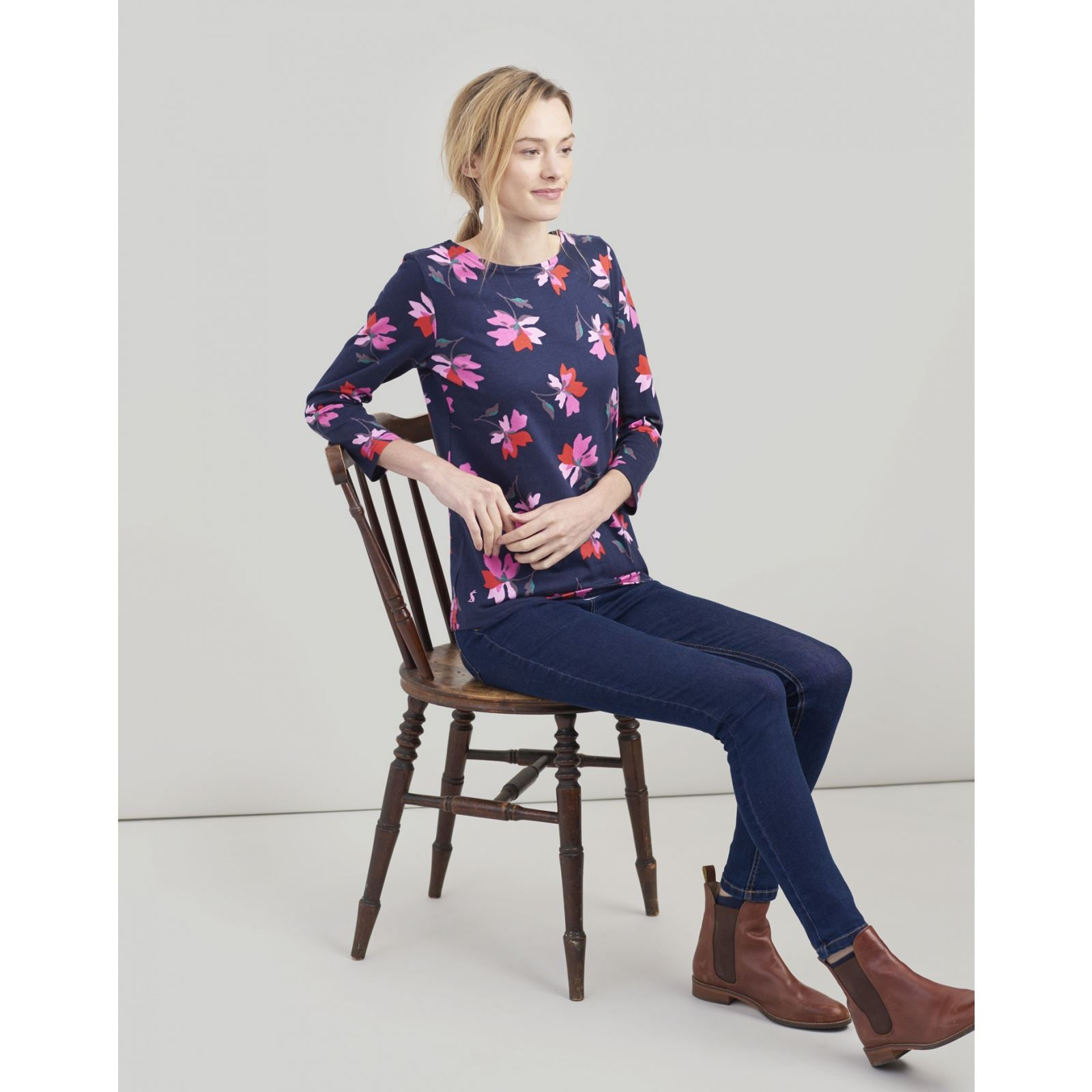 Joules-Harbour-Printed-3-4-Sleeve-Jersey-Top-SS19 thumbnail 12