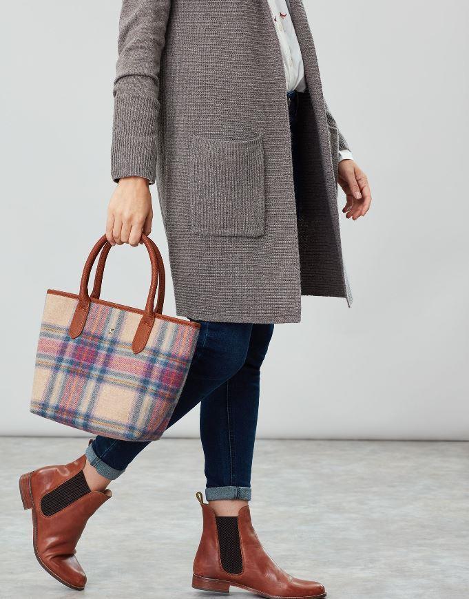 Joules-Carey-Tweed-Grab-Bag-Handbag-AW19 miniature 20