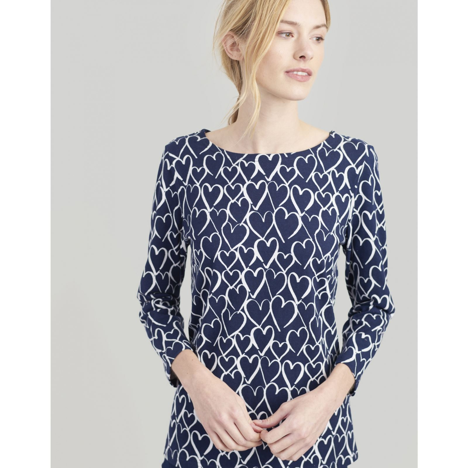 Joules-Harbour-Printed-3-4-Sleeve-Jersey-Top-SS19 thumbnail 48