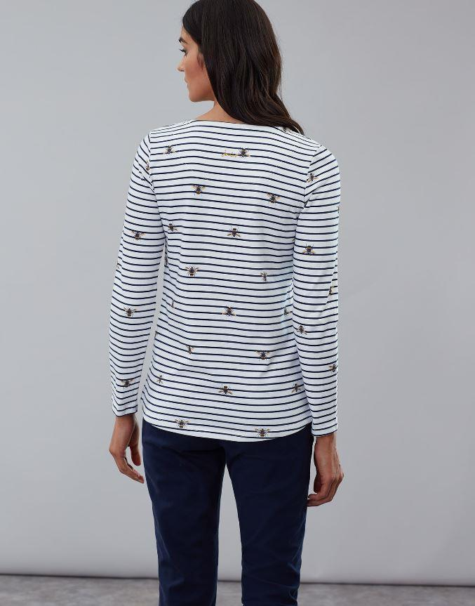 Joules-Harbour-Print-Long-Sleeve-Womens-Jersey-Top-AW19 thumbnail 3