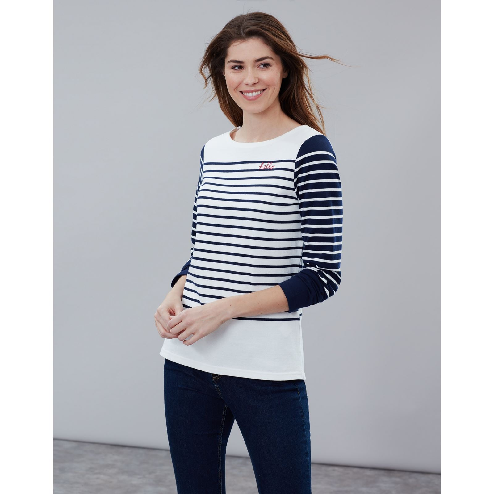 Joules-Harbour-Embroidered-Long-Sleeve-Jersey-Top-MORE-COLOURS thumbnail 17