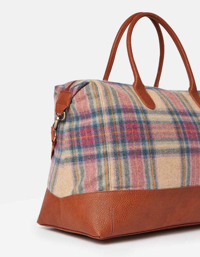 Joules-Paddington-Tweed-Holdall-Overnight-Bag miniature 9