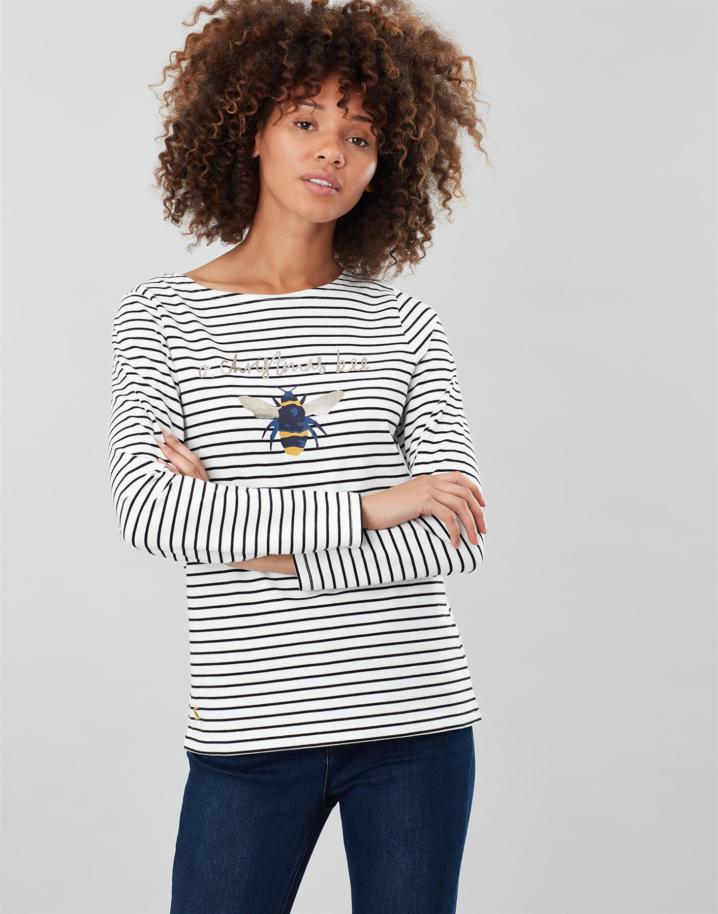 Joules-Harbour-Print-Long-Sleeve-Jersey-Top-ALL-COLOURS thumbnail 39