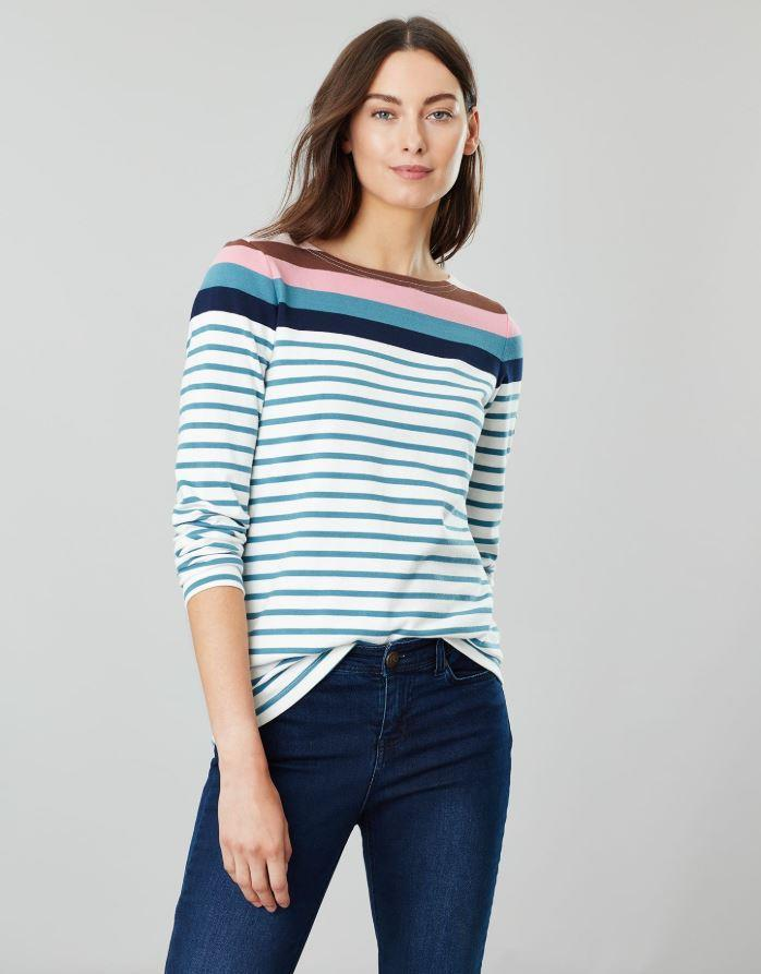 Joules-Harbour-Long-Sleeve-Jersey-Top-ALL-COLOURS thumbnail 3