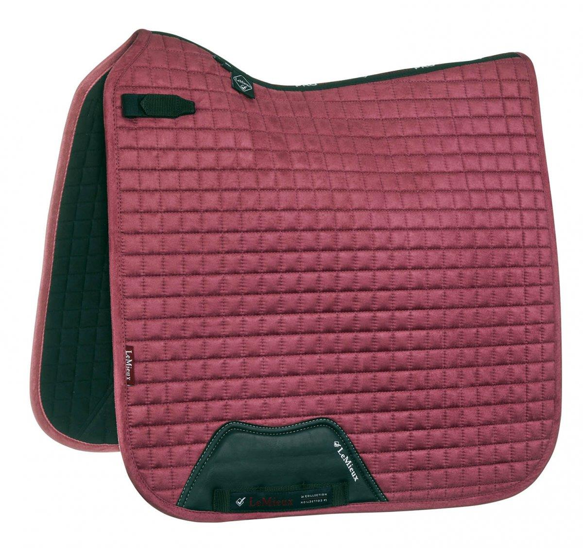 LeMieux-Prosport-Suede-Dressage-Square-Saddlecloth-All-Colours miniature 15