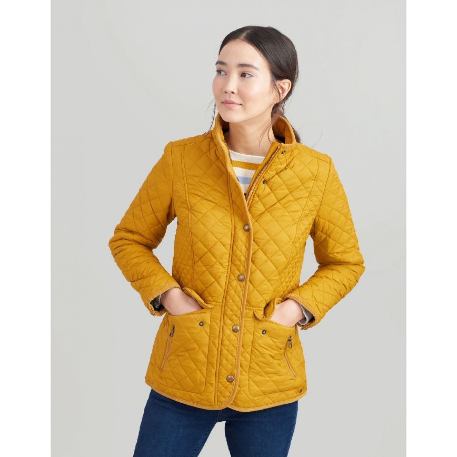 Joules-Newdale-Quilted-Jacket-Coat-SS19 thumbnail 3