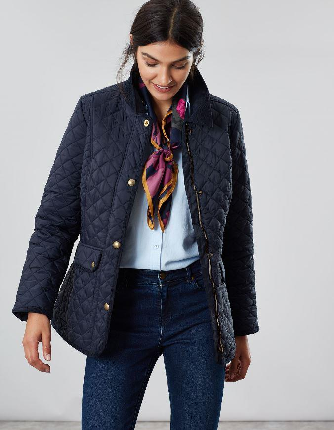 Joules-Womens-Newdale-Quilted-Fitted-Jacket-AW19 thumbnail 6