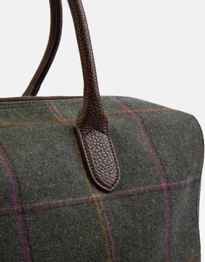 Joules-Paddington-Tweed-Holdall-Overnight-Bag miniature 3