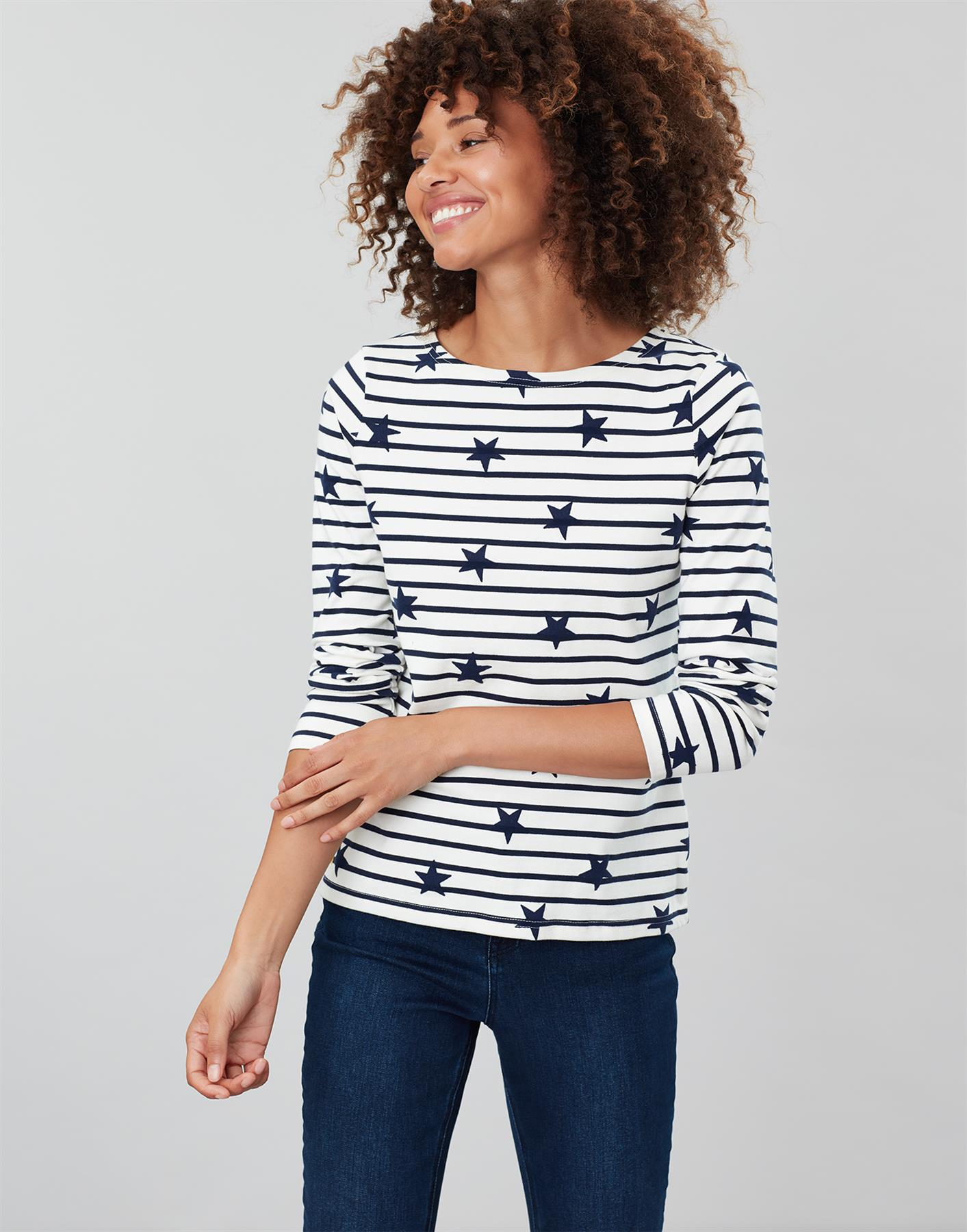Joules-Womens-Harbour-Luxe-Long-Sleeve-Jersey-Top-AW19 thumbnail 4