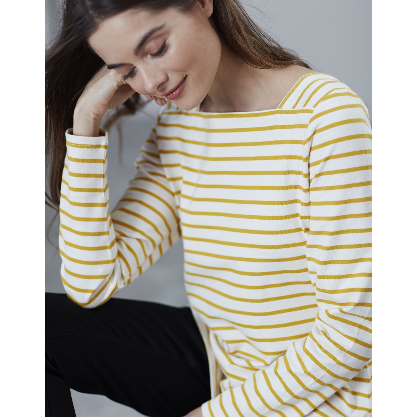 Joules-Matilde-Ladies-Square-Neck-Jersey-Top-ALL-COLOURS thumbnail 8