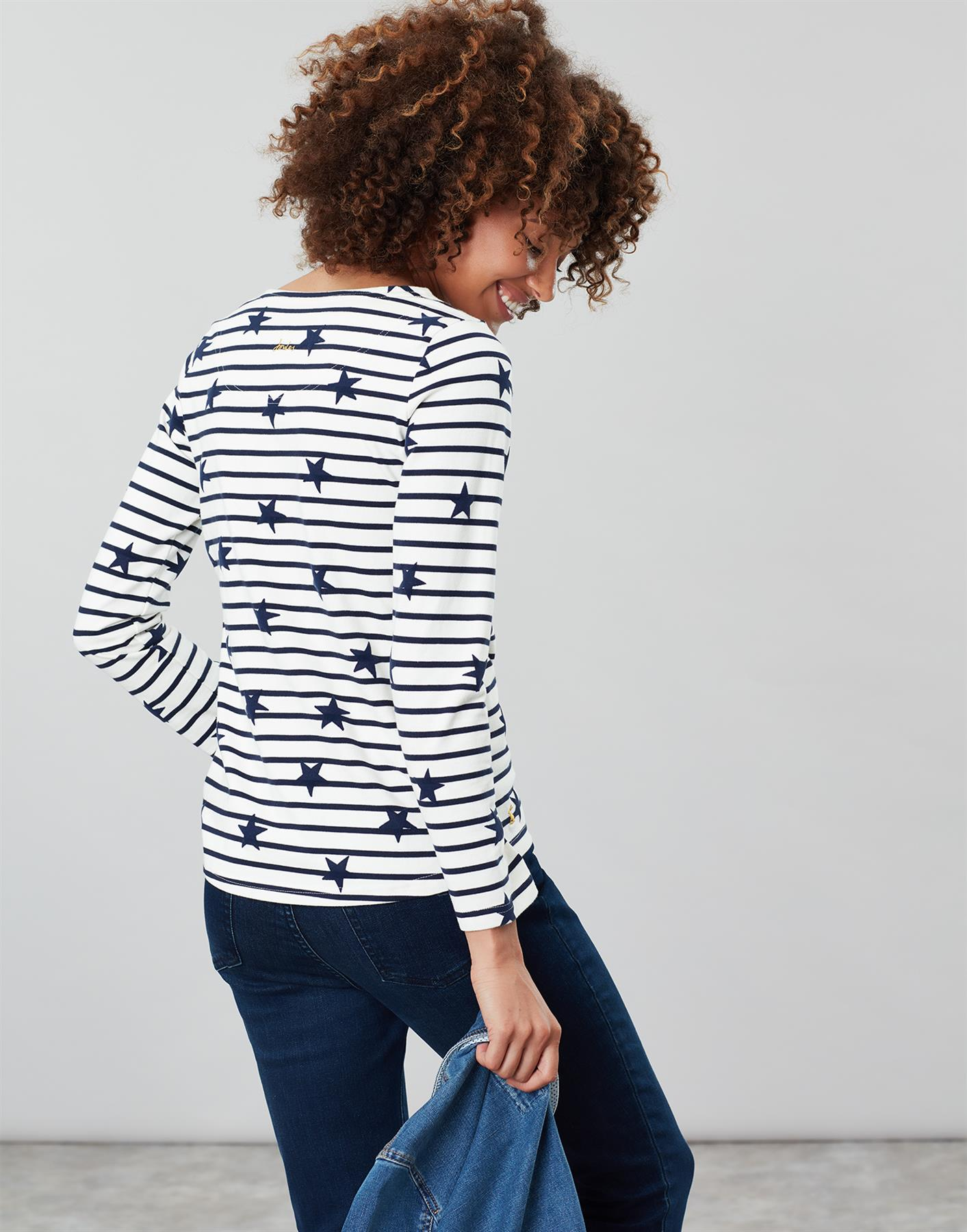Joules-Womens-Harbour-Luxe-Long-Sleeve-Jersey-Top-AW19 thumbnail 3