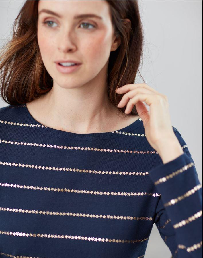 Joules-Harbour-Print-Long-Sleeve-Jersey-Top-ALL-COLOURS thumbnail 36