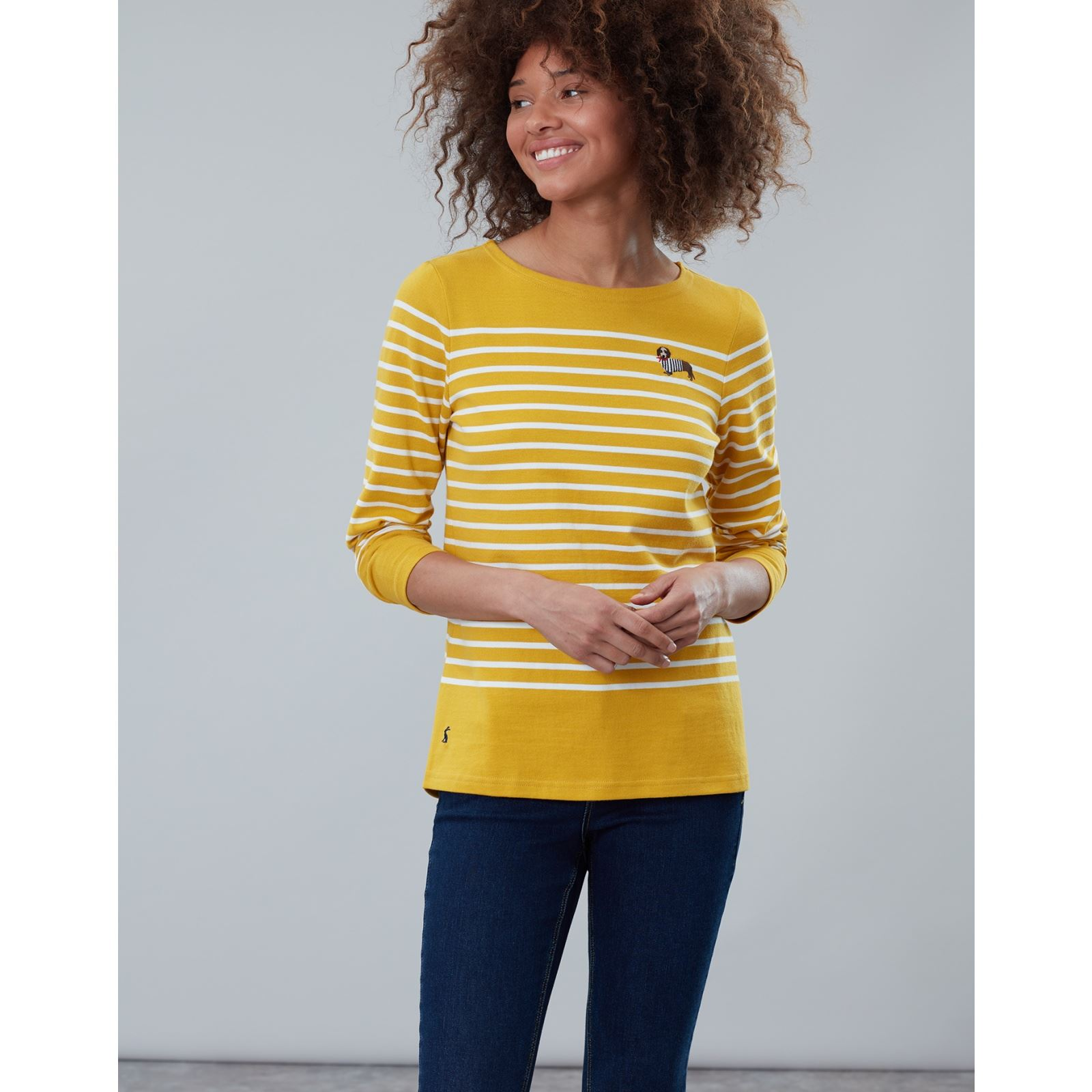 Joules-Harbour-Embroidered-Long-Sleeve-Jersey-Top-MORE-COLOURS thumbnail 9