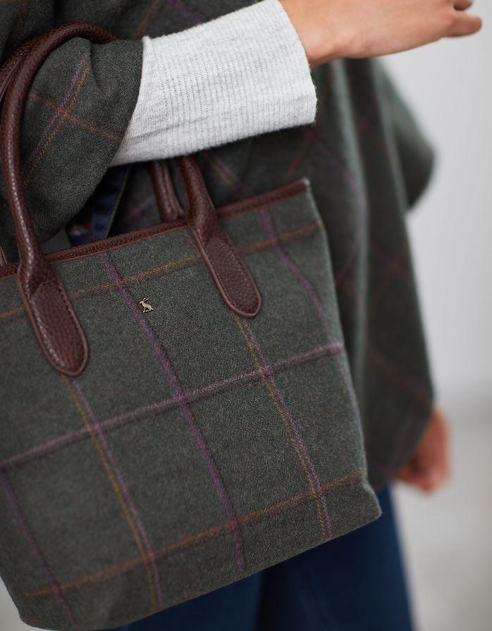 Joules-Carey-Tweed-Grab-Bag-Handbag-AW19 miniature 11