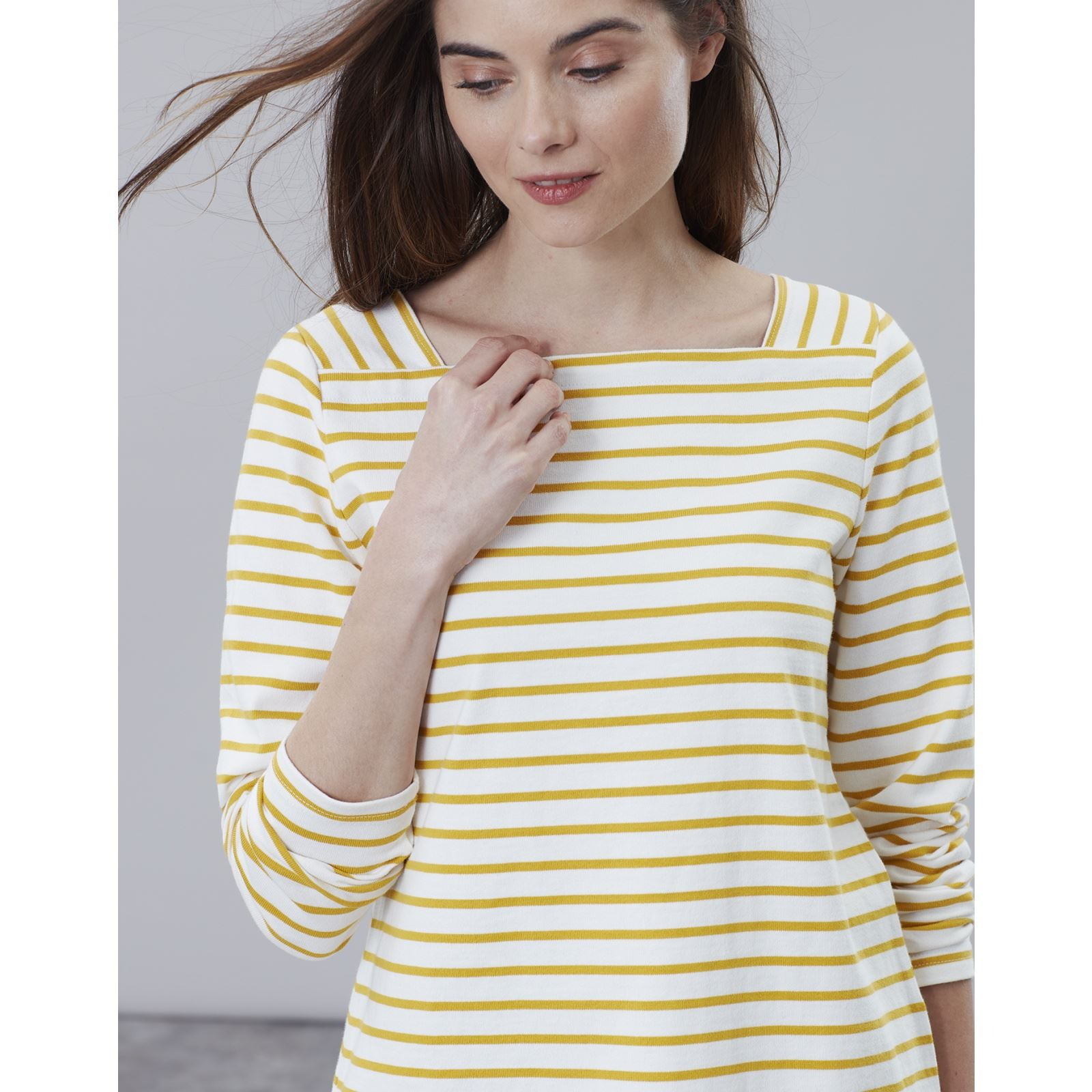 Joules-Matilde-Ladies-Square-Neck-Jersey-Top-ALL-COLOURS thumbnail 9