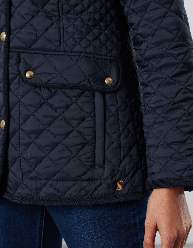 Joules-Womens-Newdale-Quilted-Fitted-Jacket-AW19 thumbnail 5