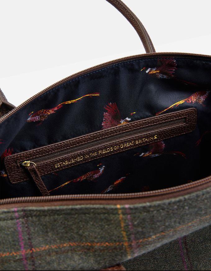 Joules-Paddington-Tweed-Holdall-Overnight-Bag miniature 6