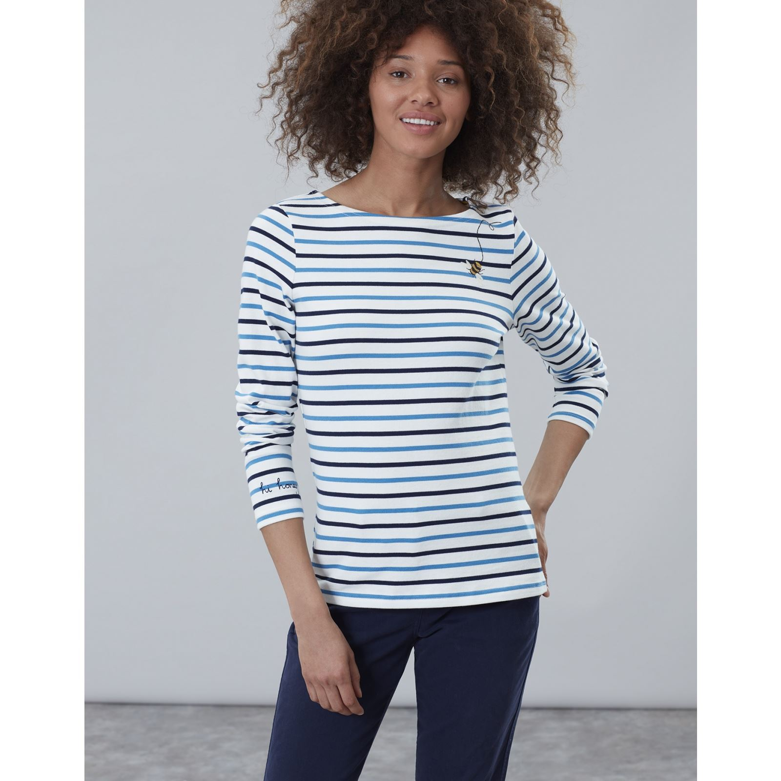 Joules-Harbour-Bordado-Manga-Larga-Jersey-Top-Mas-Colores miniatura 11
