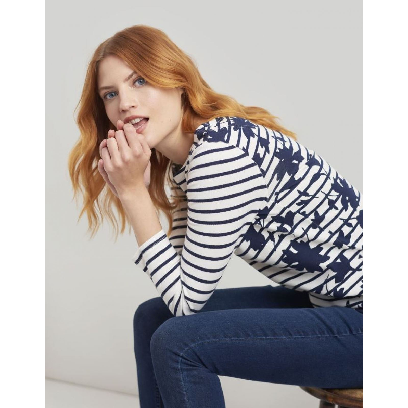 Joules-Harbour-Printed-3-4-Sleeve-Jersey-Top-SS19 thumbnail 26