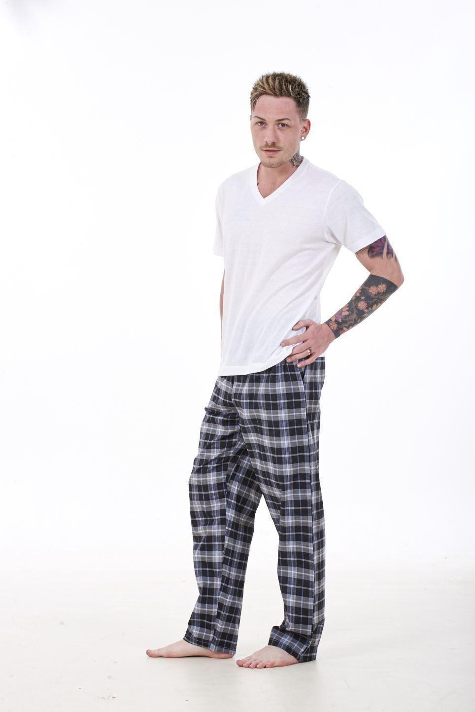 HOM Sofo tee-Shirt Crew Neck Top de Pijama para Hombre