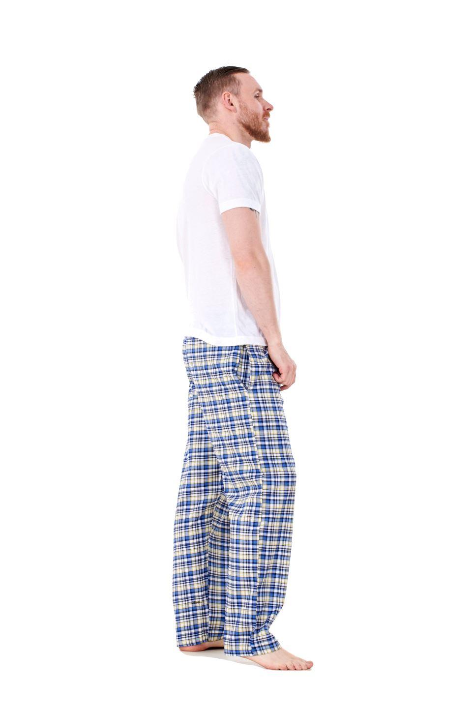 Mens-Pyjama-Bottoms-Rich-Cotton-Woven-Check-Lounge-Pant-Nightwear-Big-3XL-to-5XL Indexbild 20