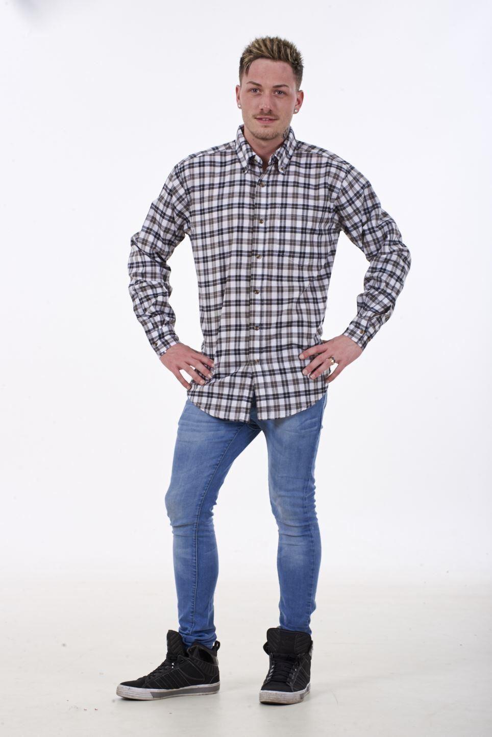 551c60ae Mens Checked Shirt Malay Apparel Cotton Casual Wear Long Sleeve ...