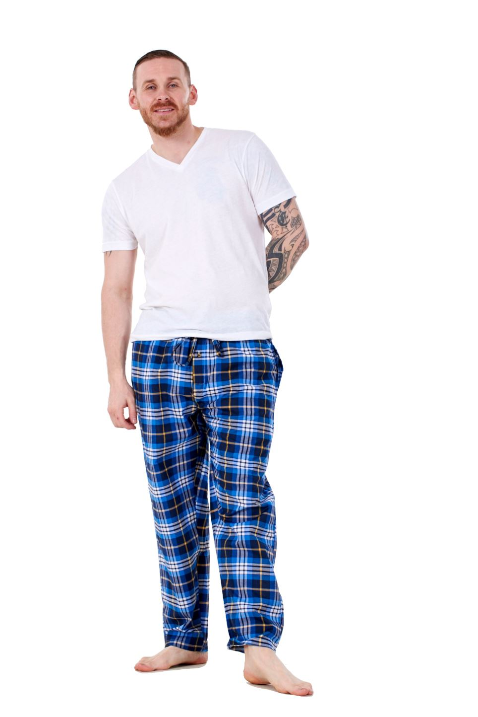 Mens-Pyjama-Bottoms-Rich-Cotton-Woven-Check-Lounge-Pant-Nightwear-Big-3XL-to-5XL Indexbild 61
