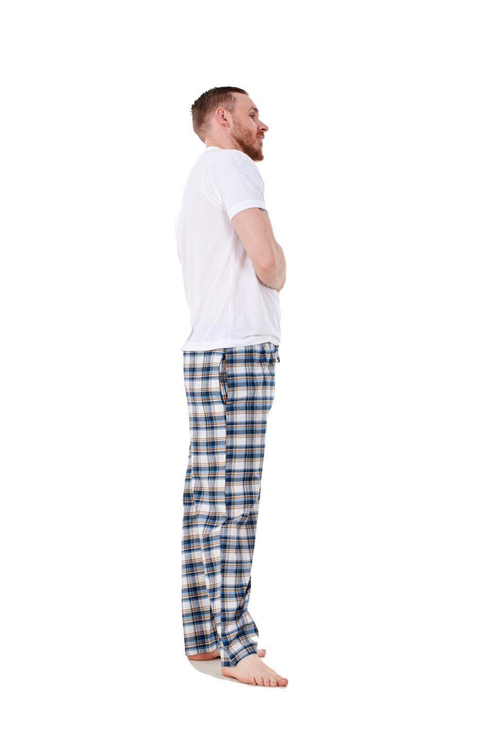 Mens-Pyjama-Bottoms-Rich-Cotton-Woven-Check-Lounge-Pant-Nightwear-Big-3XL-to-5XL Indexbild 25