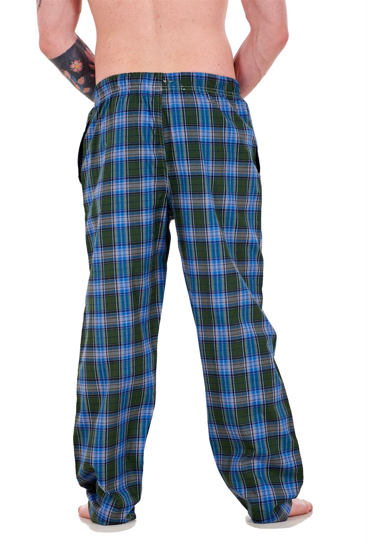 Mens-Pyjama-Bottoms-Rich-Cotton-Woven-Check-Lounge-Pant-Nightwear-Big-3XL-to-5XL Indexbild 32