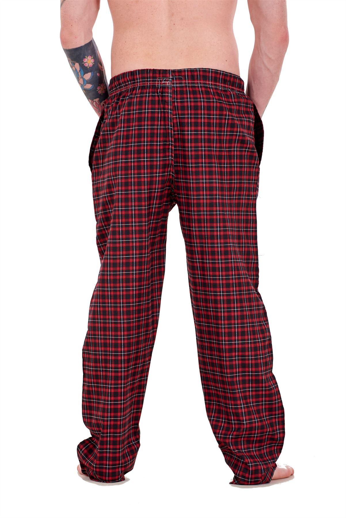 Mens-Pyjama-Bottoms-Rich-Cotton-Woven-Check-Lounge-Pant-Nightwear-Big-3XL-to-5XL Indexbild 57
