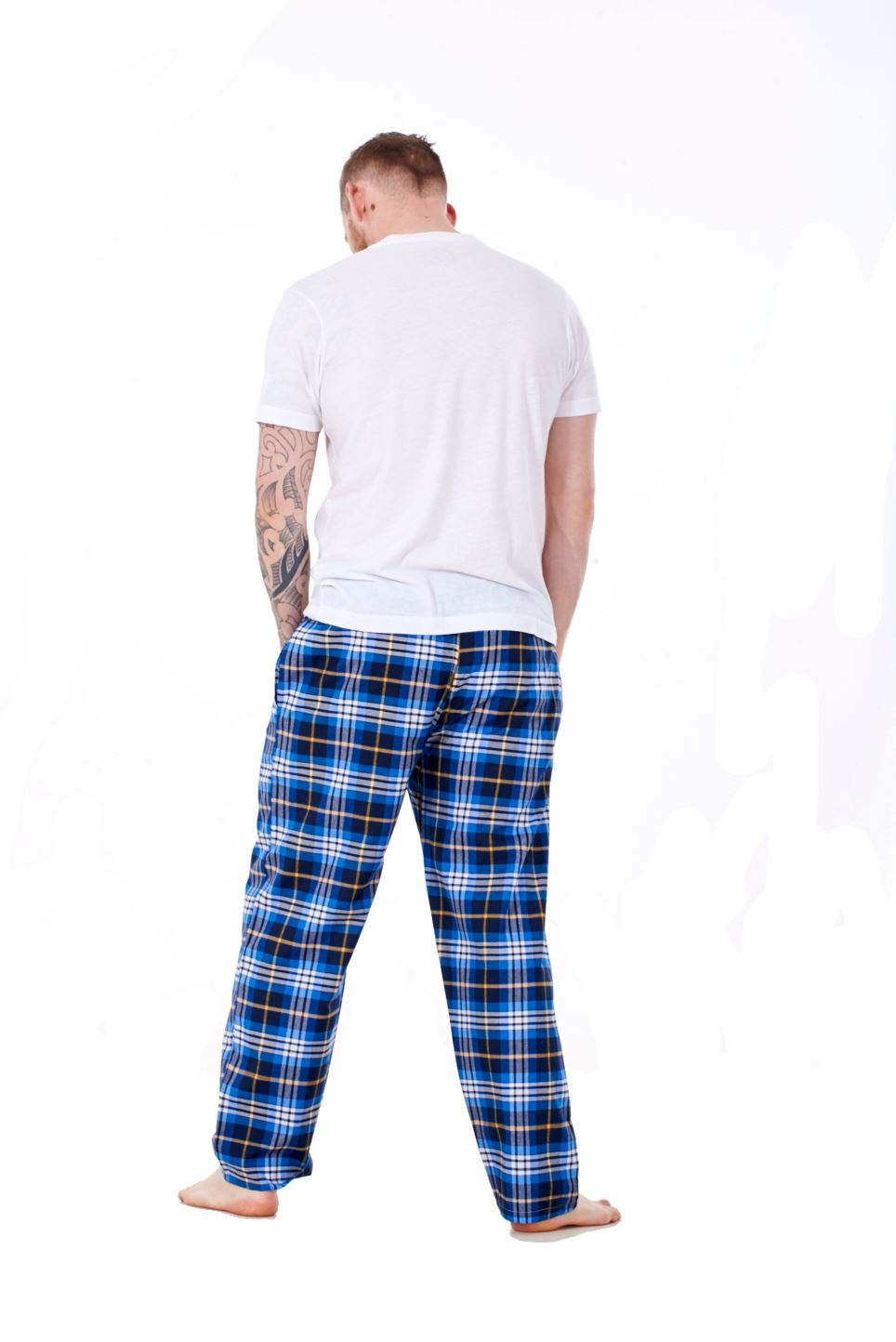 Mens-Pyjama-Bottoms-Rich-Cotton-Woven-Check-Lounge-Pant-Nightwear-Big-3XL-to-5XL Indexbild 60