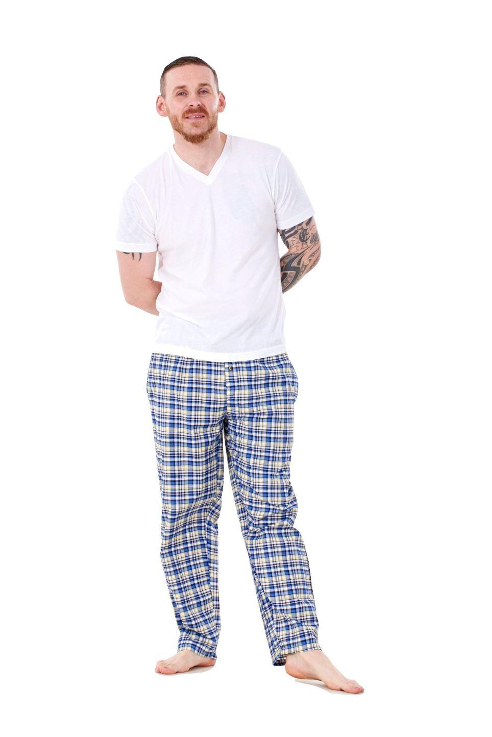 Mens-Pyjama-Bottoms-Rich-Cotton-Woven-Check-Lounge-Pant-Nightwear-Big-3XL-to-5XL Indexbild 21