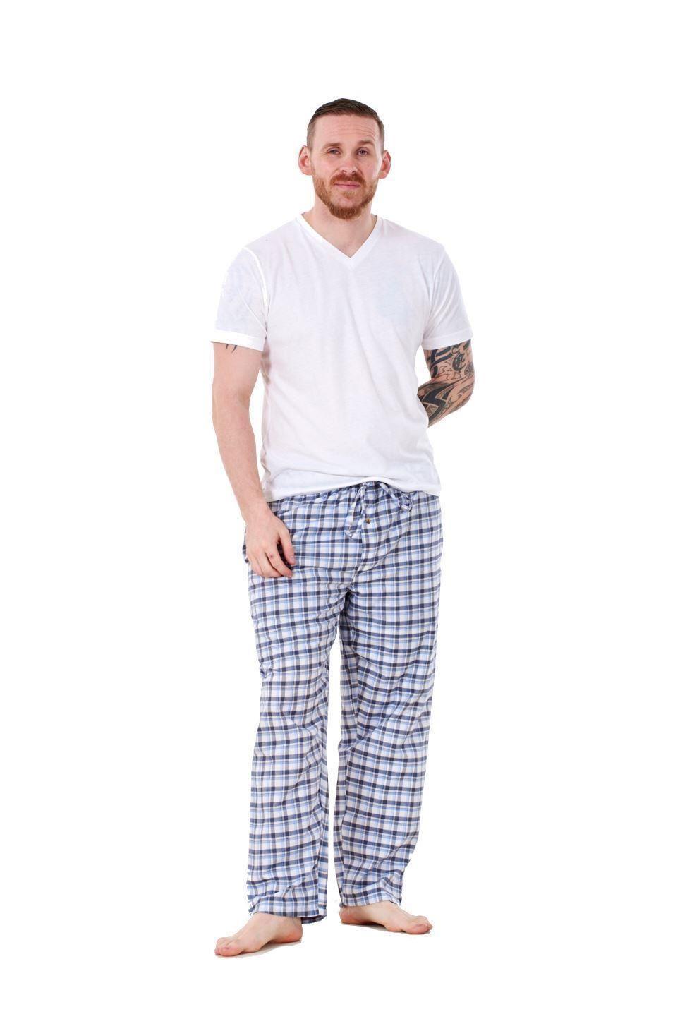 Mens-Pyjama-Bottoms-Rich-Cotton-Woven-Check-Lounge-Pant-Nightwear-Big-3XL-to-5XL Indexbild 64