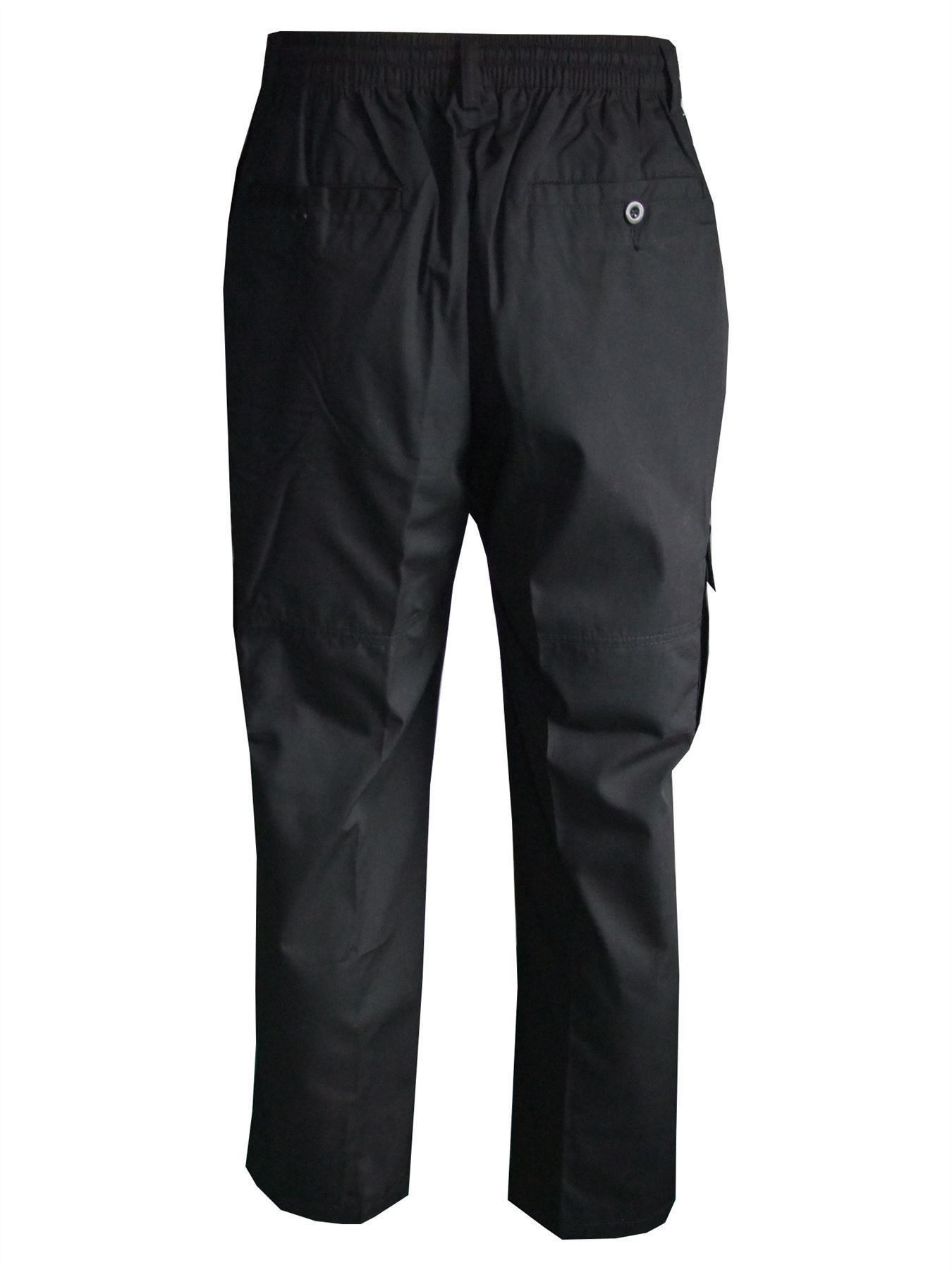 Men-Straight-Trousers-Cargo-Combat-Cotton-Elasticated-Zip-Fly-Casual-Pants-M-3XL thumbnail 7