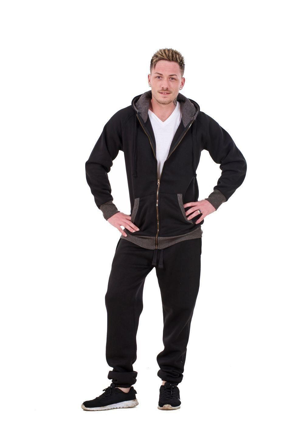 New-Mens-Tracksuit-Branded-Fleece-Hooded-Zipper-Cotton-Jogging-Bottoms-S-to-XXL thumbnail 4