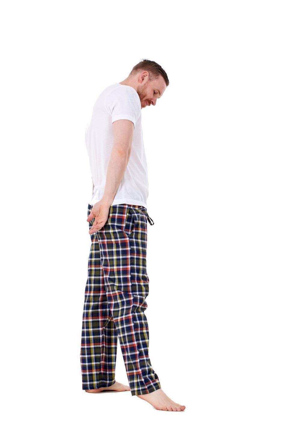 Mens-Pyjama-Bottoms-Rich-Cotton-Woven-Check-Lounge-Pant-Nightwear-Big-3XL-to-5XL Indexbild 38