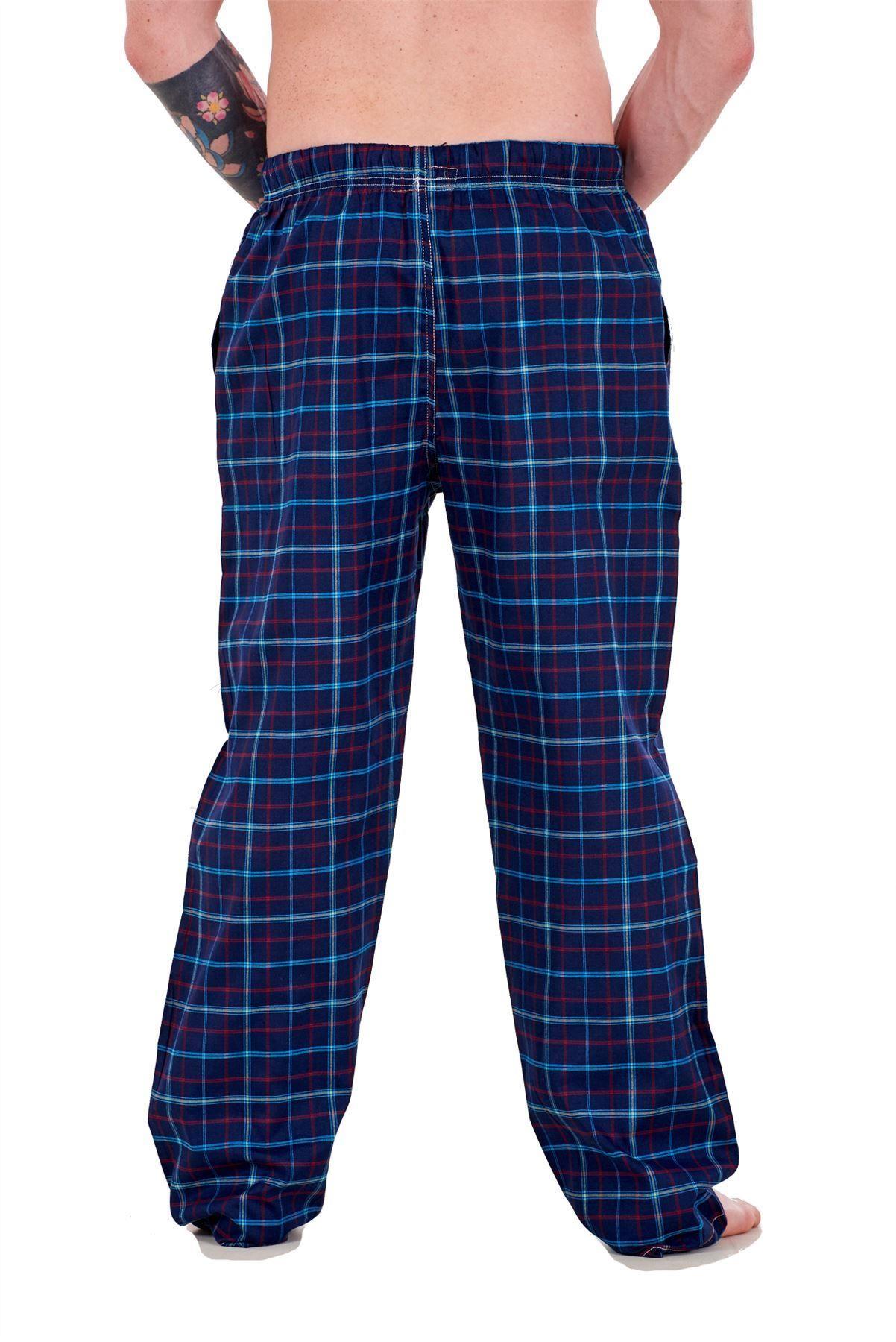 Mens-Pyjama-Bottoms-Rich-Cotton-Woven-Check-Lounge-Pant-Nightwear-Big-3XL-to-5XL Indexbild 42