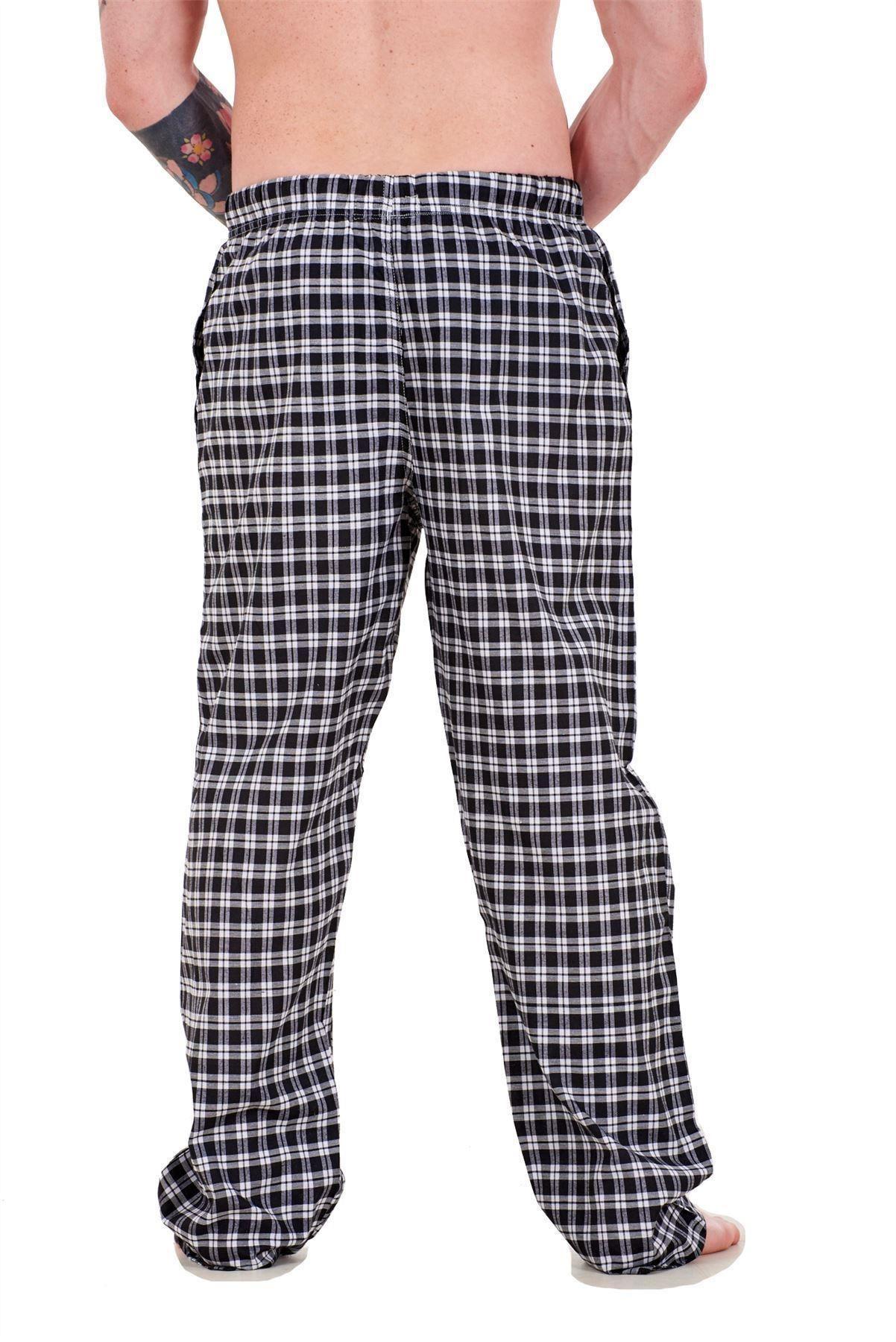 Mens-Pyjama-Bottoms-Rich-Cotton-Woven-Check-Lounge-Pant-Nightwear-Big-3XL-to-5XL Indexbild 10