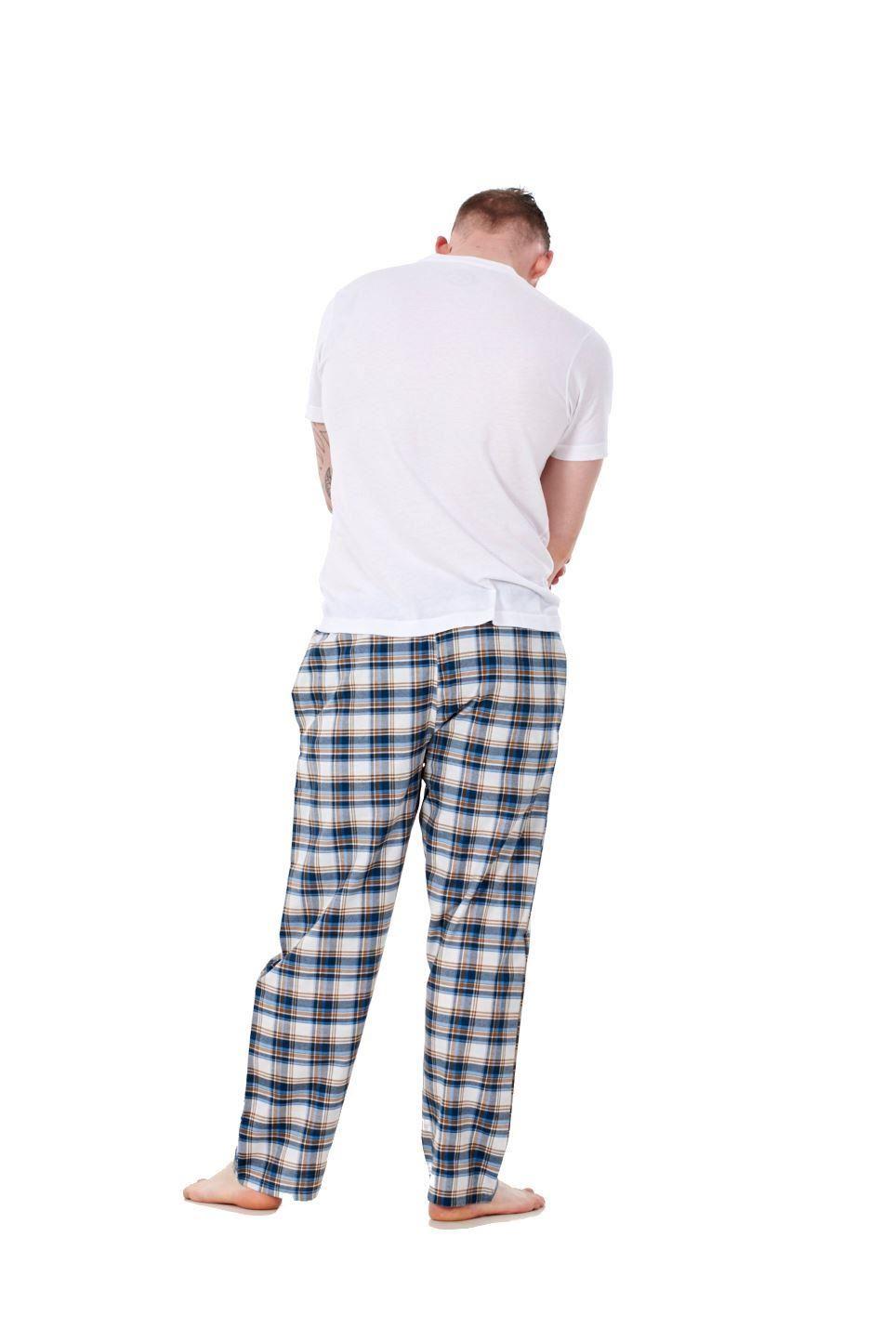 Mens-Pyjama-Bottoms-Rich-Cotton-Woven-Check-Lounge-Pant-Nightwear-Big-3XL-to-5XL Indexbild 26