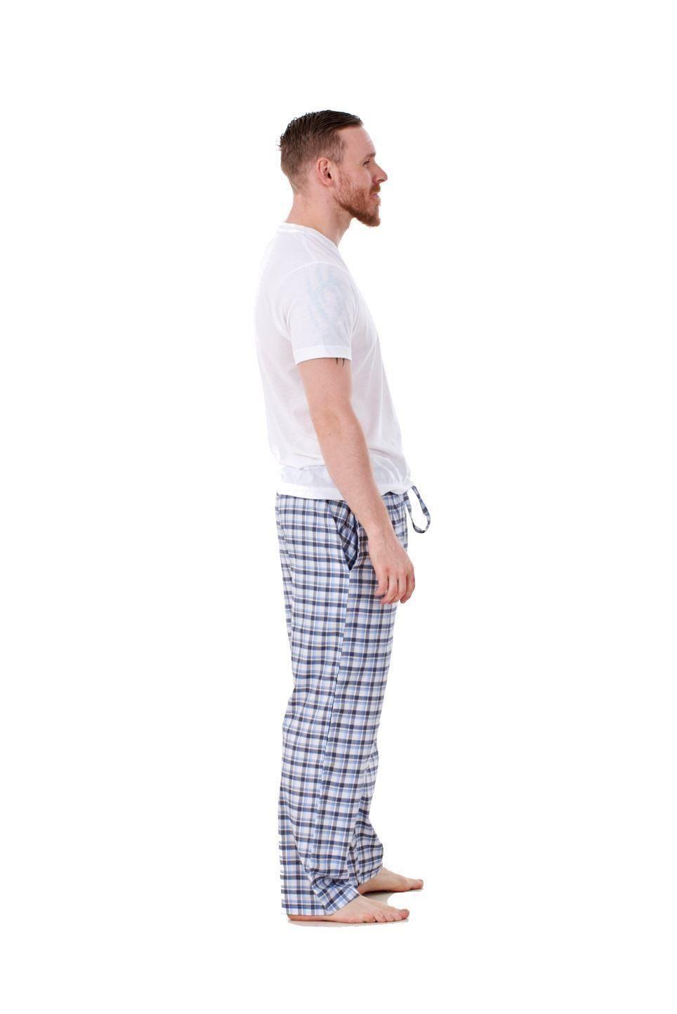 Mens-Pyjama-Bottoms-Rich-Cotton-Woven-Check-Lounge-Pant-Nightwear-Big-3XL-to-5XL Indexbild 66