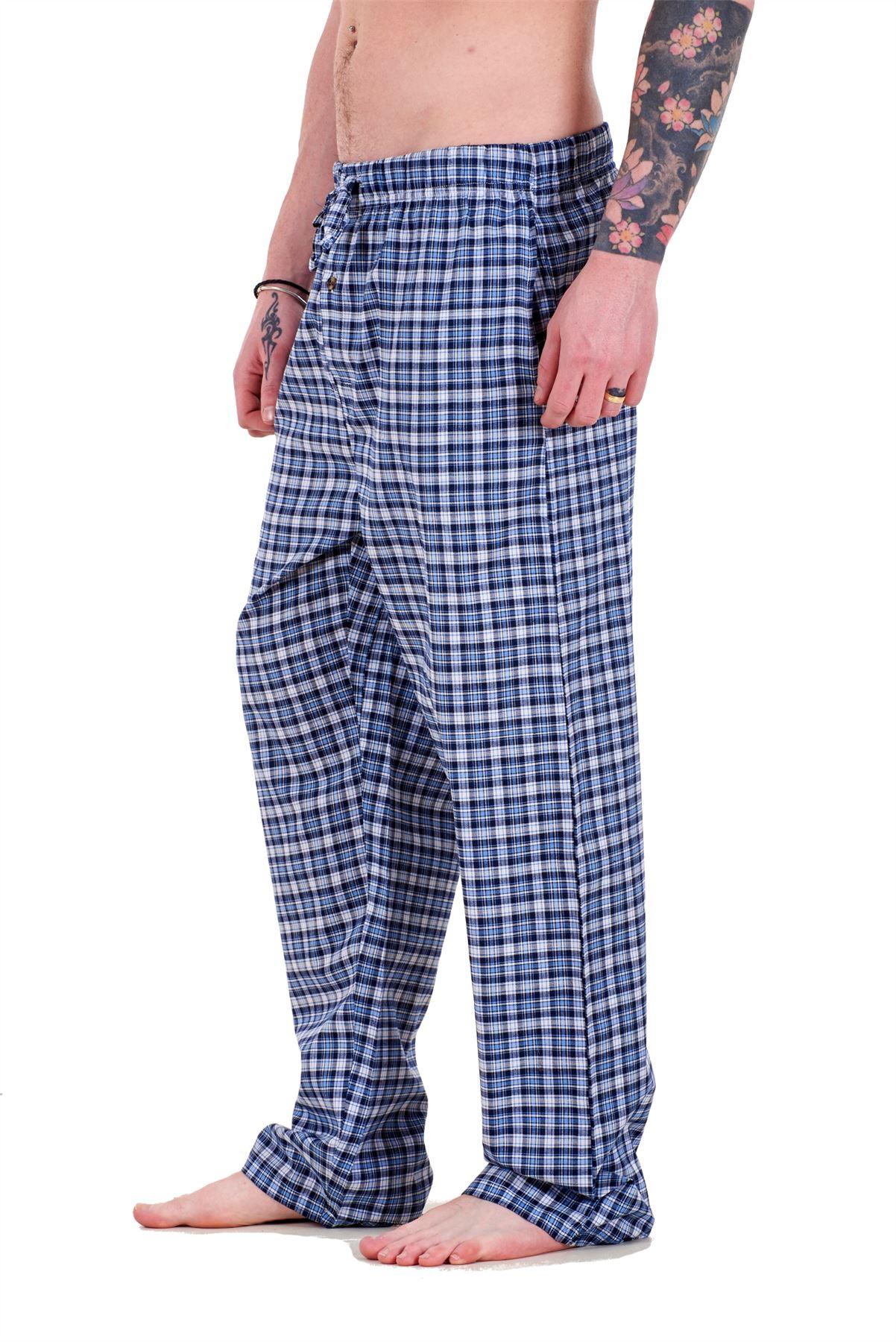 Mens-Pyjama-Bottoms-Rich-Cotton-Woven-Check-Lounge-Pant-Nightwear-Big-3XL-to-5XL Indexbild 14