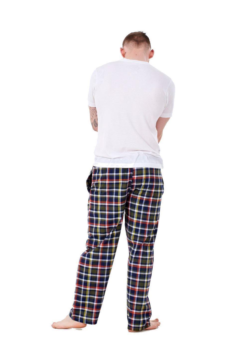 Mens-Pyjama-Bottoms-Rich-Cotton-Woven-Check-Lounge-Pant-Nightwear-Big-3XL-to-5XL Indexbild 36