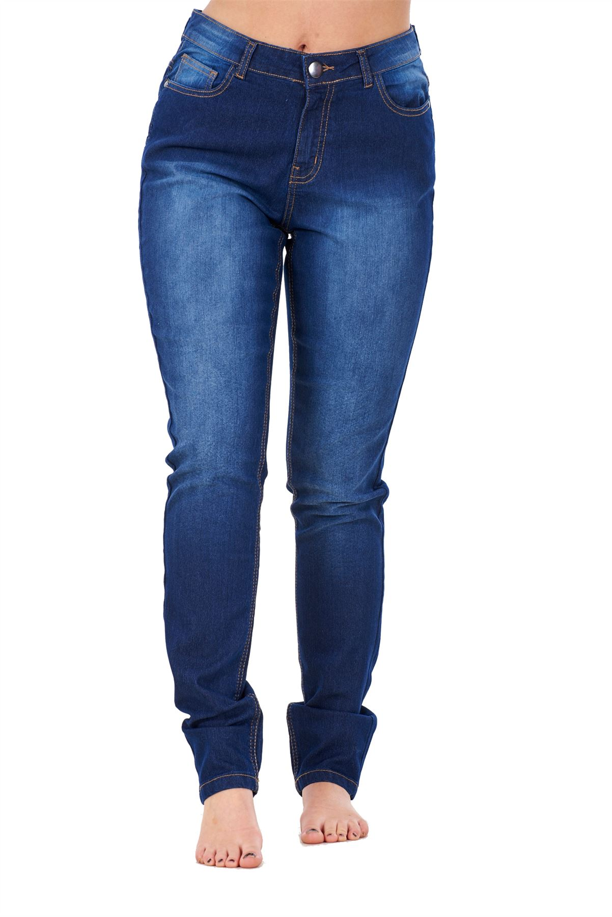 Ladies-Stretch-Jeans-Denim-cotton-Zip-fly-High-Waisted-Slim-Fit-Trousers-Pants thumbnail 15