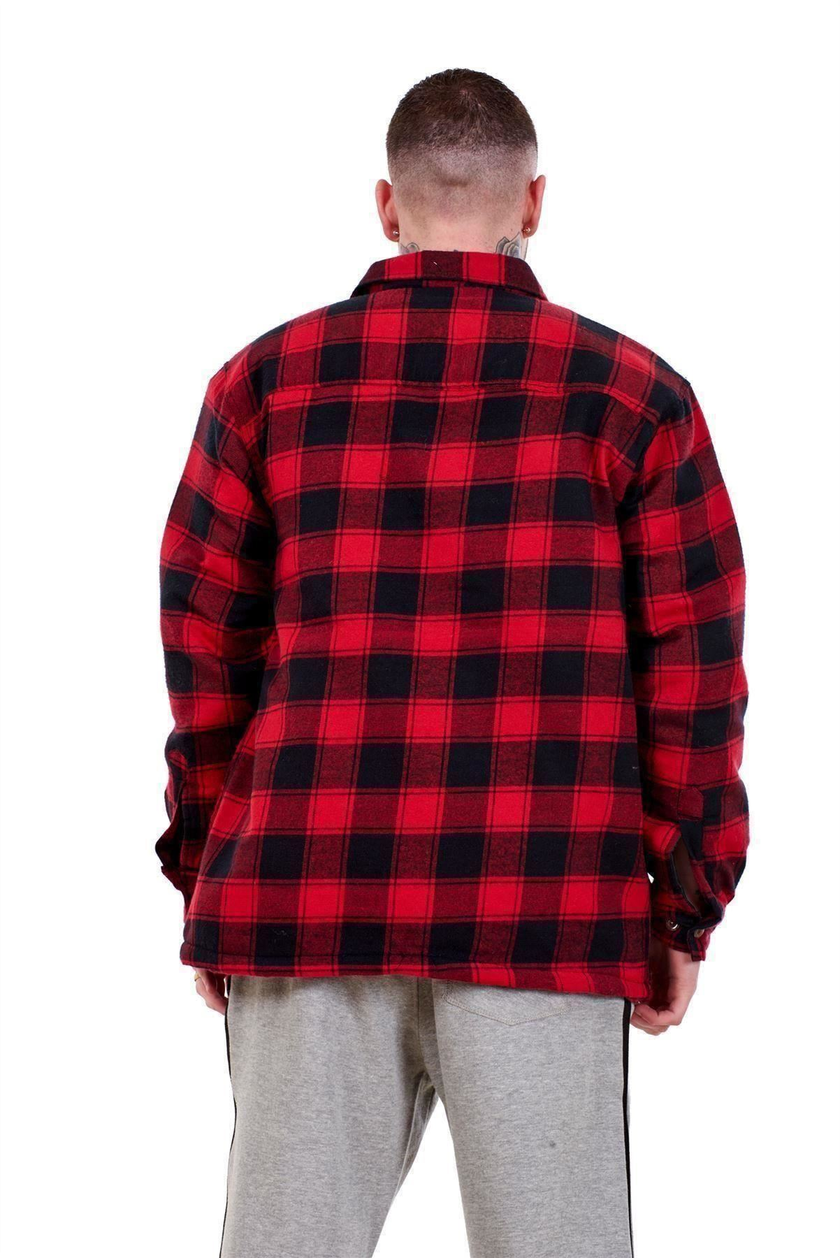 fast delivery great deals 2017 rock-bottom price Details about Mens Flannel Padded Work Shirt Yarn Dyed Quilted Lumberjack  Jacket Regular & Big