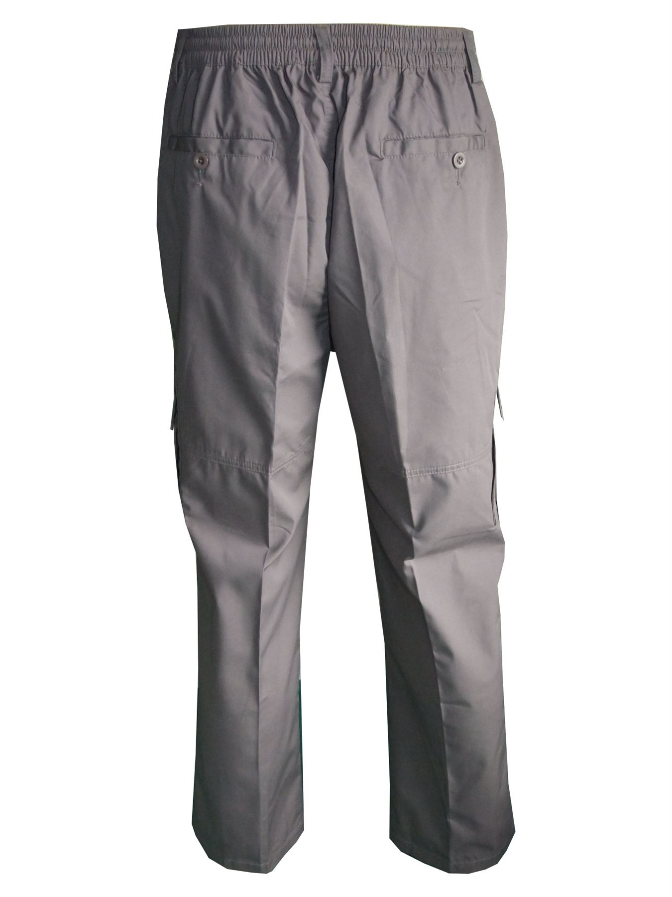 Men-Straight-Trousers-Cargo-Combat-Cotton-Elasticated-Zip-Fly-Casual-Pants-M-3XL thumbnail 12