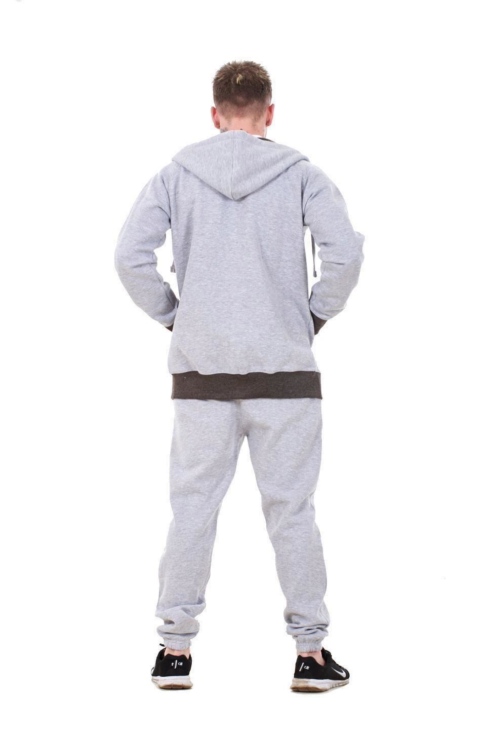 New-Mens-Tracksuit-Branded-Fleece-Hooded-Zipper-Cotton-Jogging-Bottoms-S-to-XXL thumbnail 10