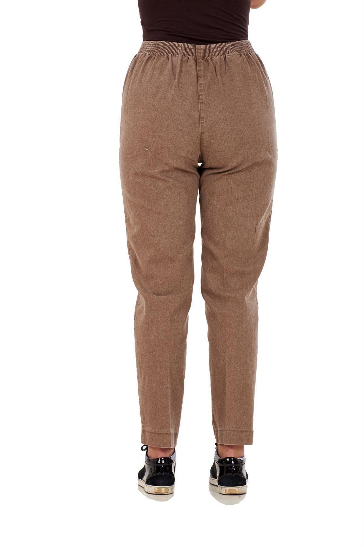 Ladies-Women-Trousers-Rayon-Cotton-Pockets-Elasticated-Stretch-Black-pants-8-24 thumbnail 4
