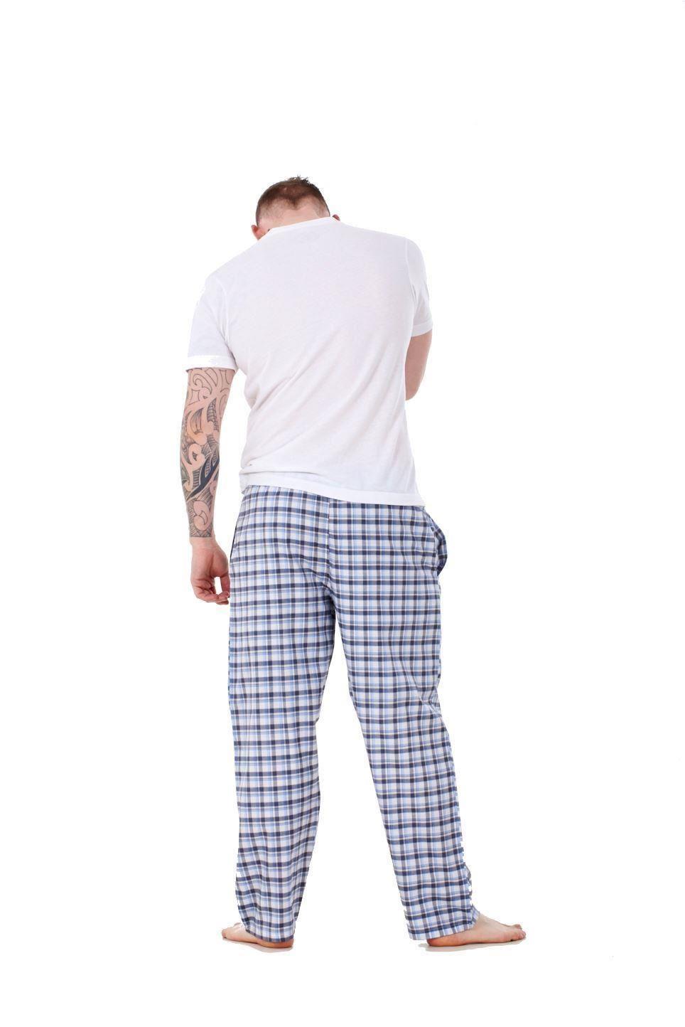 Mens-Pyjama-Bottoms-Rich-Cotton-Woven-Check-Lounge-Pant-Nightwear-Big-3XL-to-5XL Indexbild 65