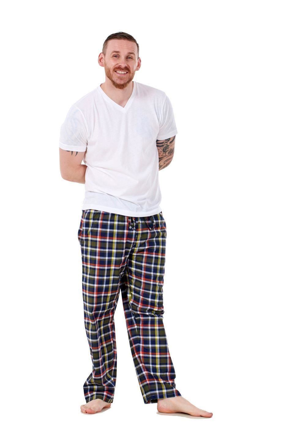 Mens-Pyjama-Bottoms-Rich-Cotton-Woven-Check-Lounge-Pant-Nightwear-Big-3XL-to-5XL Indexbild 37