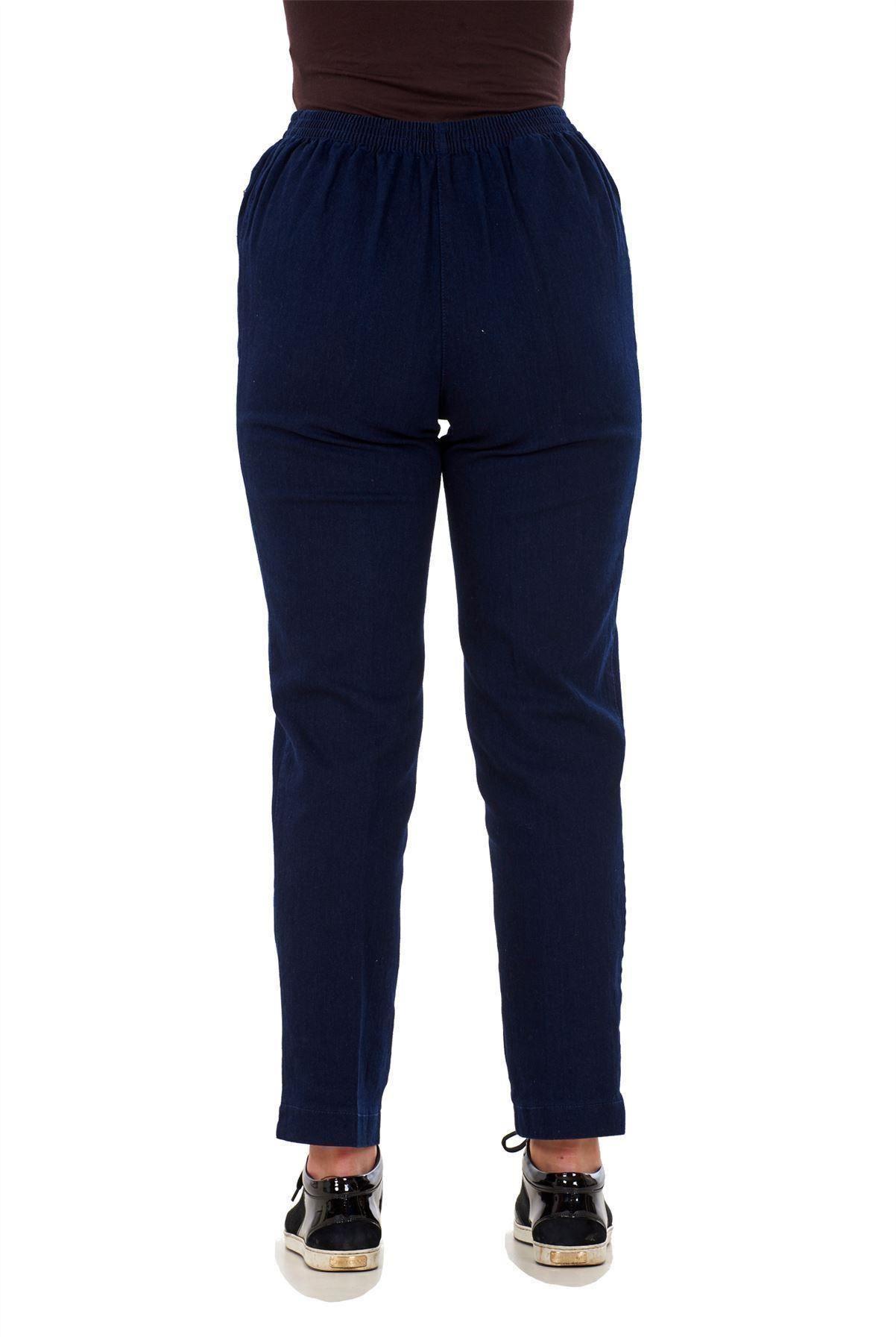 Ladies-Women-Trousers-Rayon-Cotton-Pockets-Elasticated-Stretch-Black-pants-8-24 thumbnail 13